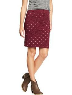 Women's Printed Pencil Skirts: Red Dots | Old Navy