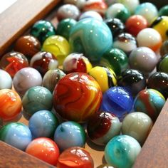 vintage glass marbles - I played marbles as a child for hours. Hang on to the crocks. My Childhood Memories, Childhood Toys, Great Memories, Retro, Oldies But Goodies, Glass Marbles, Ol Days, My Memory, The Good Old Days