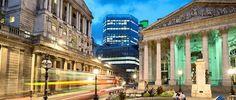 À Londres, la Bourse et la Banque d'Angleterre. La politique économique du Royaume-Uni est déjà largement décorrelée de celle de la zone euro.