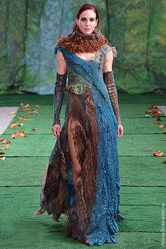 """Платье ручной работы """"перо Павлина"""" - тёмно-бирюзовый,павлин,платье цвета волны"""