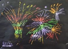 What great Guy Fawkes artwork we've created! For poetry on Monday we had a poem about fireworks and we made some artwork about it. Fireworks Craft For Kids, Fireworks Art, Guy Fawkes, School Art Projects, Rainbow Art, Crafty Kids, Nouvel An, Science Art, Art Classroom