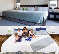 There Are Now Giant Beds That Measure 12 Feet Wide That'll Fit The Whole Family Giant Beds, Big Beds, Pit Couch, Cool Teen Bedrooms, Master Bedrooms, Master Suite, Family Bed, Indian Home Design, Types Of Beds