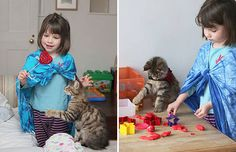 Thula the Maine Coon Cat, the Best Therapy for Iris, the Little Girl with Autism (XI) l Gatos Maine Coon, Maine Coon Cats, Iris, Autistic Artist, Animals Beautiful, Cute Animals, Animals Dog, Son Chat, Cat Cafe