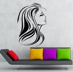 Wall Sticker Vinyl Decal Hot Sexy Girl Hair Beauty Salon Spa Decor (ig1880)