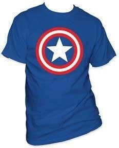 MARVEL -- CLASSIC CAPTAIN AMERICA SHIELD ON NAVY -- MENS TEE $9.77 (save $20.22) + Free Shipping
