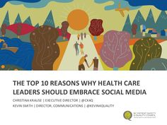 This presentation was delivered at the 2016 International Forum on Quality and Safety in HealthCare by Christina Krause, executive director of the BC Patient S… Power Of Social Media, Health Care, Presentation, Kids Rugs, Let It Be, Lamb, Deck, Marketing, Twitter