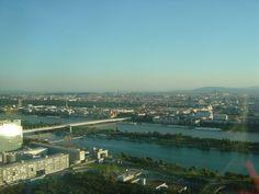view from Donauturm tower, Vienna. Best Car Rental, Vienna, Budapest, Switzerland, Venice, Tower, Amazing, Outdoor, Outdoors
