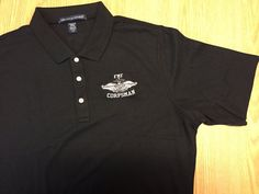 FMF Corpsman Polo Shirt  Embroidered Polo by corpsmanupofficial
