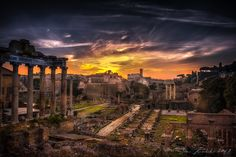 Forum Romanum Sunrise, Rome by Jens Lunecke, via 500px
