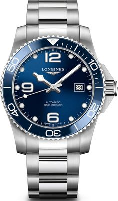 Longines Watch HydroConquest #add-content #basel-18 #bezel-unidirectional #bracelet-strap-steel #brand-longines #case-material-steel #case-width-41mm #cws-upload #date-yes #delivery-timescale-call-us #dial-colour-blue #discount-code-allow #gender-mens #l37814966 #luxury #movement-automatic #new-product-yes #official-stockist-for-longines-watches #packaging-longines-watch-packaging #style-divers #subcat-hydroconquest #supplier-model-no-l3-781-4-96-6…