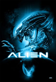 THIS WOULD HAVE SCARED ME TOO MUCH TO SEE THE ORIGINAL IN THE THEATER - HECK, USING THE EGG WAS CREEPY ENOUGH!!! Alien poster by ~RobertoDS