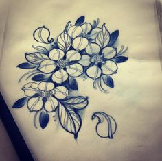 #flower #tattoo #line #black #newtraditional #rose #neotraditional #neo traditionel