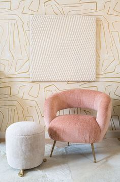 KELLY WEARSTLER | LAUREL LOUNGE CHAIR. Tight upholstered seat with cast brass…