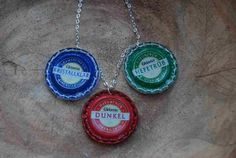 recycled bottlecaps necklace