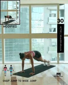 Fitness Workouts, Full Body Hiit Workout, Hiit Workout At Home, Gym Workout Videos, Best Cardio Workout, Fitness Workout For Women, Sport Fitness, Yoga Fitness, At Home Workouts