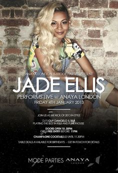 Jade Ellis live at Anaya #jadeellis #modeparties #anaya #xfactor