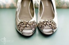 Vera Wang Lavender Silver Jeweled Wedding Flats