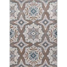 Andover Mills Natural Taupe/Teal Area Rug & Reviews | Wayfair