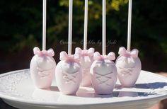 ballet slippers cake pops  -  Creative Edibles by Yuki
