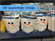 DIY Snowman Drinks - www.afrugalfriend.net