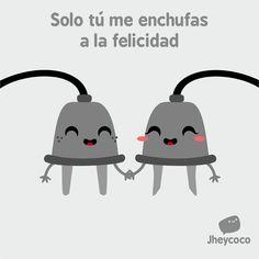 #jheycoco #humor #ilustración #cute #amor #enchufe