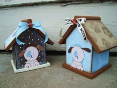 dog house puppy baby shower decorations from birdhouses