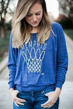 Memphis Hoop Women's Gameday Raglan Memphis Grizzlies Memphis Tigers Basketball University of Memphis
