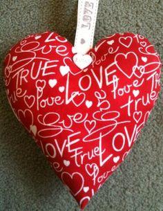 Love Fabric Heart Lavender Bag - Handmade