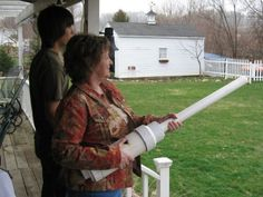 Potato Gun. My brother made one; we accidentally took out a bird while launching potatoes into the silo lol