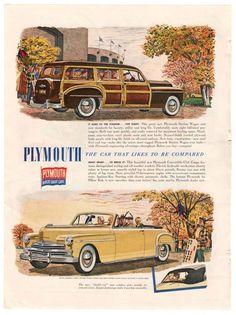 Vintage 1950 Plymouth Convertible Magazine Print Ad Samson Folding Furniture Advertisement