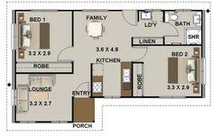 big bedroom 2 bed house plan