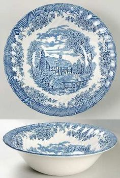 Churchill The Brook Blue (Made in England) 9  Round Vegetable Bowl  sc 1 st  Pinterest & Churchill The Brook Blue (Made in England) Bread u0026 Butter Plate - 6 ...