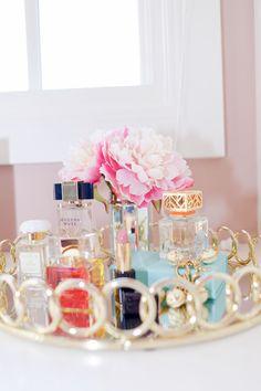 Gorgeous perfume tray