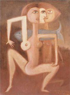 Victor Brauner (1903  - 1966)   Surrealism   Demonocratic Soul - 1943