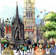 Looking for drawing project inspiration? Check out Manchester's Albert Square by…