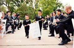 "diy ""here comes the bride"" sign! // © gntphoto.com"