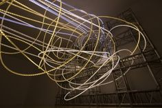 OCUPANTE light sculpture installation at the Ludwig Museum in Koblenz, Germany