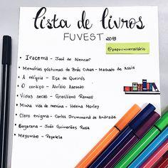 Livros FUVEST Portuguese Lessons, Learn Portuguese, School Notes, I School, Portuguese Language, Study Organization, Pretty Notes, Study Hard, Study Inspiration