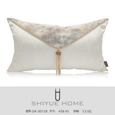 中式抱枕 新中式样板房抱枕靠垫现代简约黑白条纹几何格子抱枕套样板房沙发靠枕