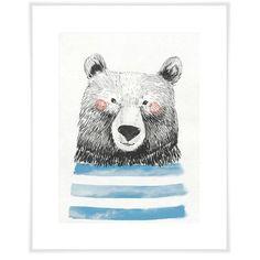 Mack & Milo Cathrine Cheerful Bear Portrait Paper Print Size: H x W x D Art Wall Kids, Art For Kids, Wall Art, Watercolor Cards, Watercolor Paintings, Illustrations, Illustration Art, Bear Drawing, Guache