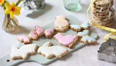 Make Easter biscuits the Mary Berry way: use half of the dough to make traditional fruited Easter biscuits, and half to make iced Easter biscuits in funky shapes