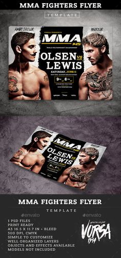 Mma  Boxing Fight Night Showdown Flyer Template  Boxing Fight