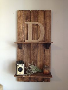 Reclaimed Pallet Wood Shelf Made 100% from reclaimed pallets!!