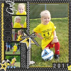 Soccer Girl which I will change to football...like the layout - Scrapbook.com