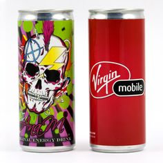 8.4 oz. Energy Drink - Printed with a FULL COLOR label - $2.75/each can (must be ordered in quantities of 24)