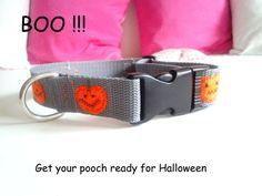 Pumpkin collar for Halloween by DoGATAilla on Etsy