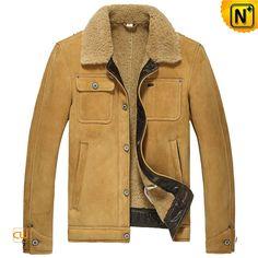 Sheepskin Shearling Aviator Jacket Mens CW860183 $1585.89 - www.cwmalls.com