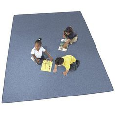 Joy Carpets Endurance Kids Area Rug - Assorted Colors Midnight Blue - 80-V-MIDNIGHT BLUE