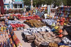 TUNISIA: market Houmt_Souk-ceramics-katinalynn_a