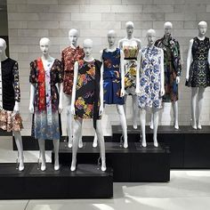 Mannequin army at @nordstrom_visual_store1 #mannequins #prints #nordstrom #vm #visualmerchandising #merchandising #vmlife #vmd #vmdaily Fashion Displays, Clothing Displays, Mannequin Display, Mannequin Art, Visual Merchandising, Store Windows, Showcase Design, Display Design, Window Design